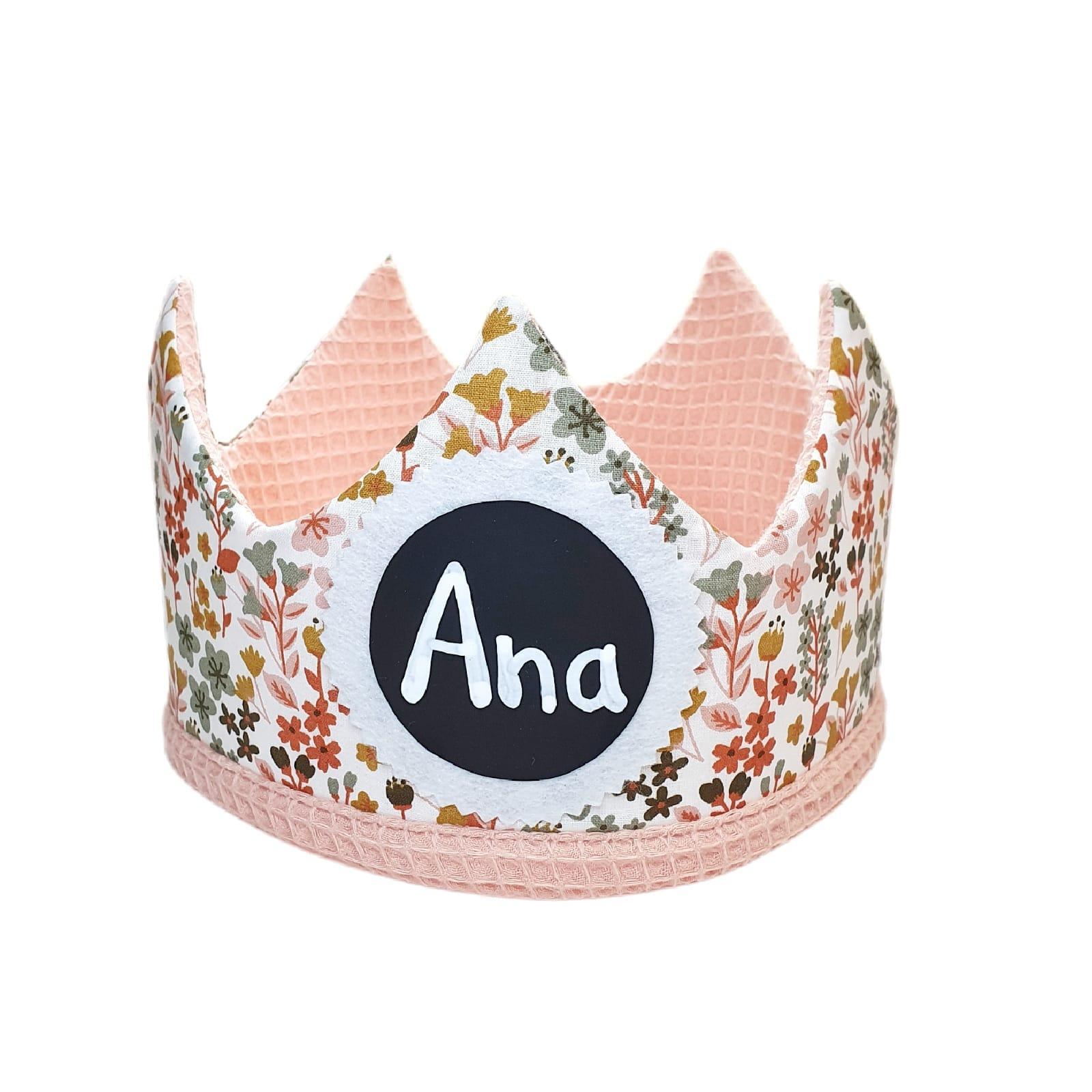 Corona de cumpleaños PINK FLOWERS