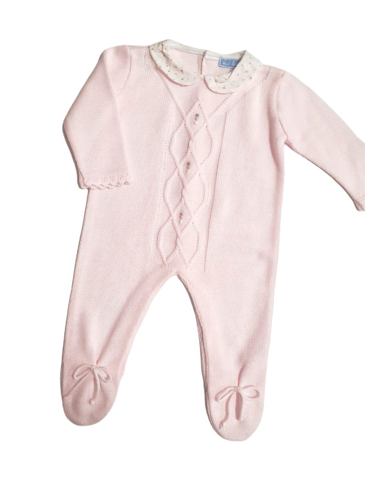 Pelele bebé ARAN DELICADO rosa