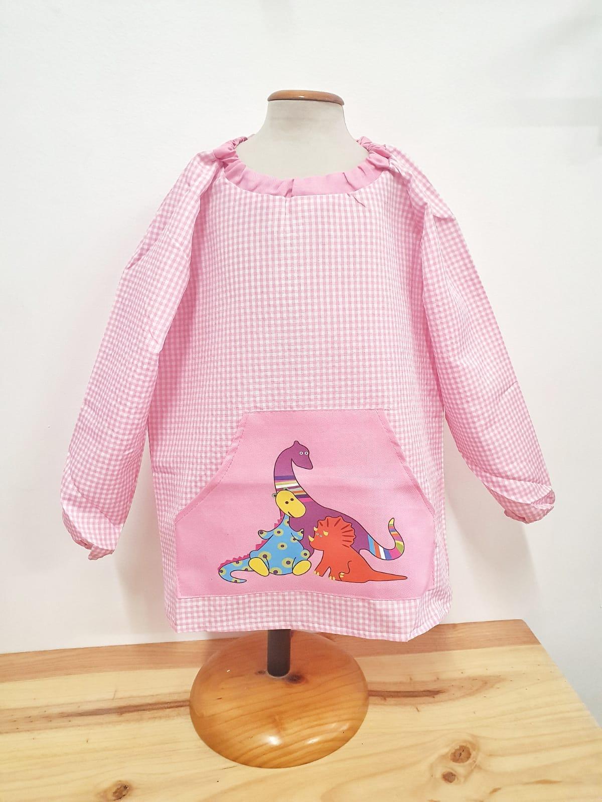 Babi con bolsillo central DINOS rosa
