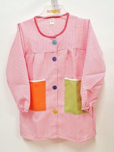 Bata con botones MULTICOLOR rosa