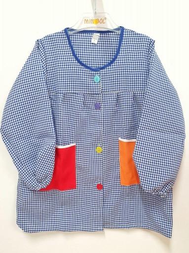 Bata con botones MULTICOLOR azul