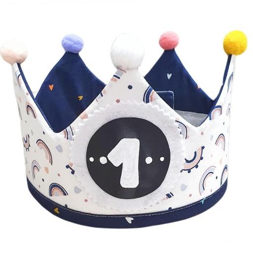 Corona de cumpleaños BLUE RAINBOW