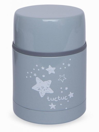 Termo papillero WEEKEND CONSTELLATION GRIS con funda de neopreno