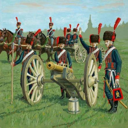 1/72 Artilleria De La Guardia Francesa A Caballo