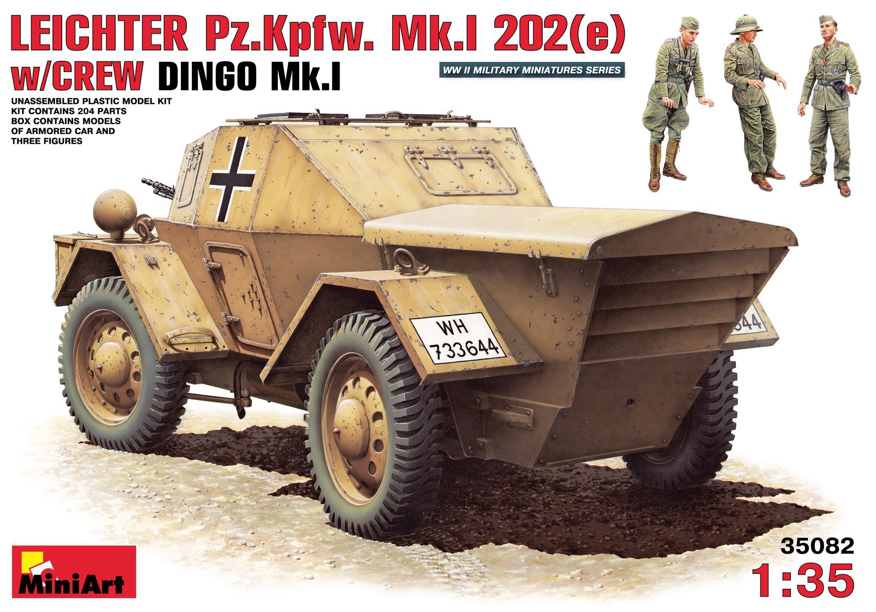 1/35 Leichter Pz. Kpfw. Mk.I 202(e) DINGO c/figuras