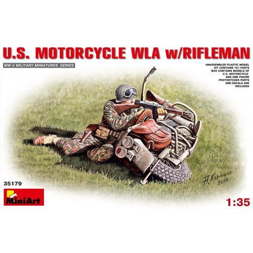 1/35 US Motorcycle WLA with Rifleman
