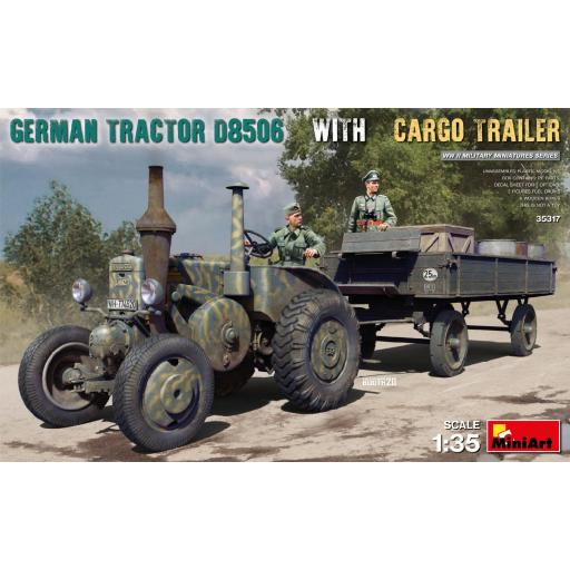 1/35 German Tractor D8506 with Cargo Trailer