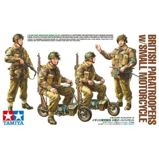 1/35 British Paratroopers w/small Motorcycle