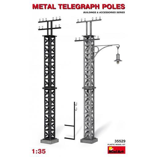 1/35 Metal Telegraph Poles