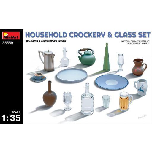 1/35 Household Crockery & Glass Set