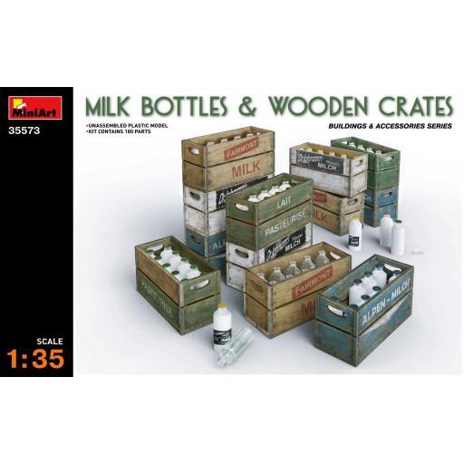 1/35 Milk Bottles & Wooden Crates