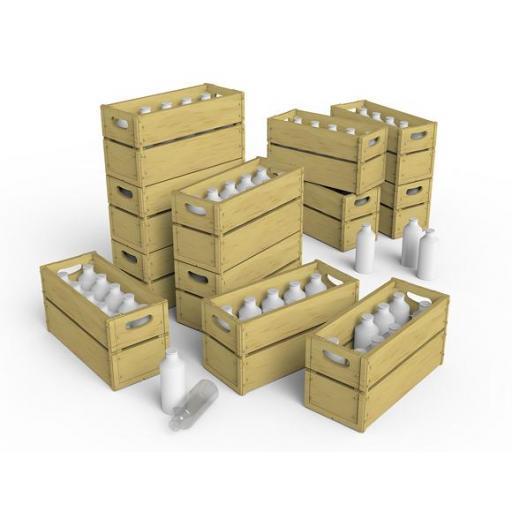 1/35 Milk Bottles & Wooden Crates [2]