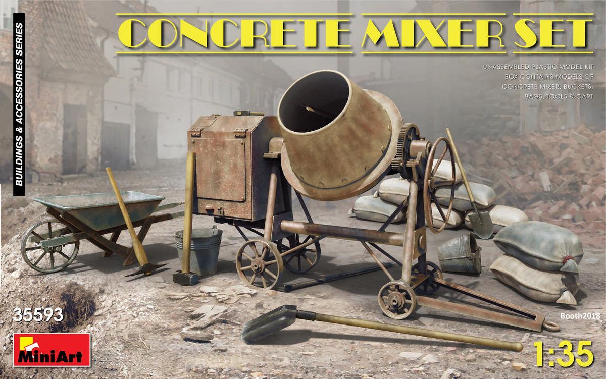 1/35 Concrete Mixer Set
