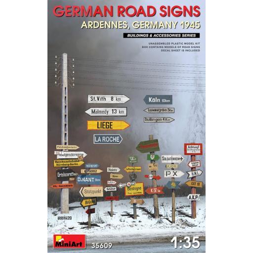 1/35 German Road Signs WW2 Ardennes, Germany 1945