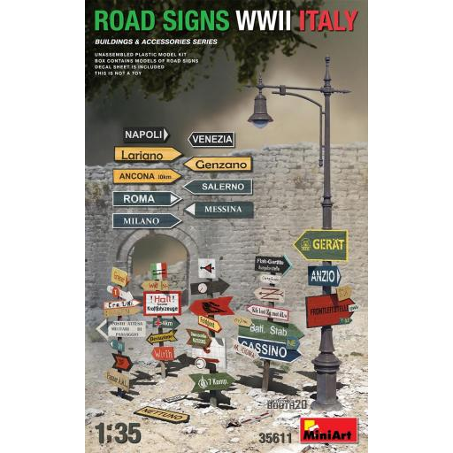 1/35 Road Signs WWII Italy
