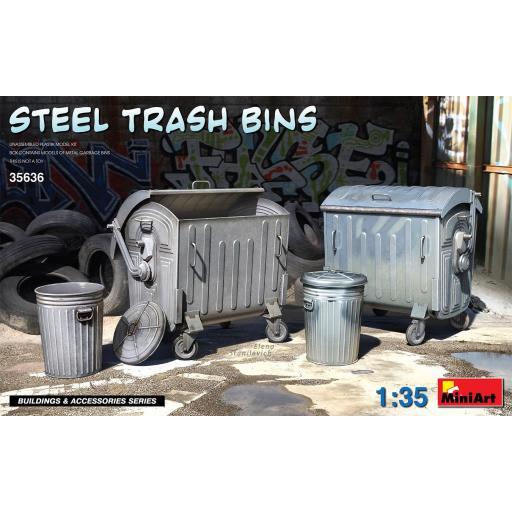 1/35 Steel Trash Bins