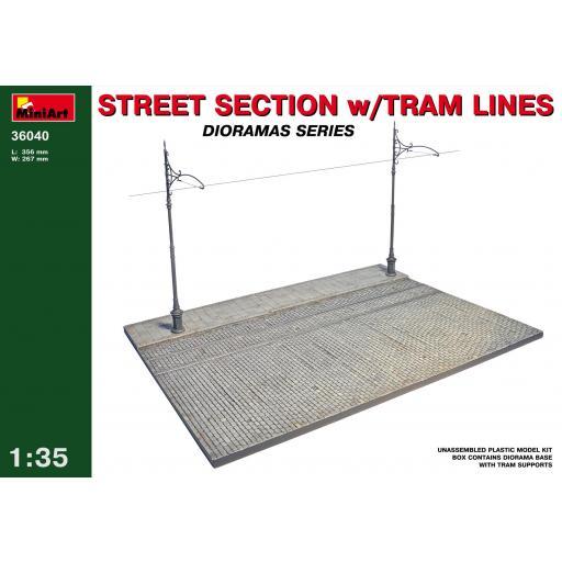 1/35 Street section w/Tram Lines