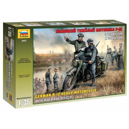 1/35 R-12 German Motorcycle with Rider & Officer WWII