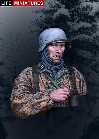 Busto Waffen-SS Ardenas 1944