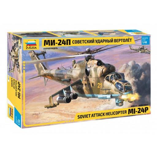 1/48 Helicóptero Combate Soviético MI-24P