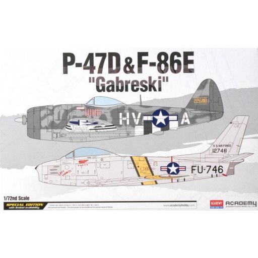 """1/72 Set 2 Aviones P-47D & F-86E """"Gabreski"""""""