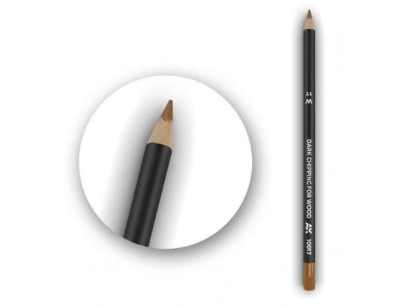 Dark Chipping for Wood Weathering Pencil