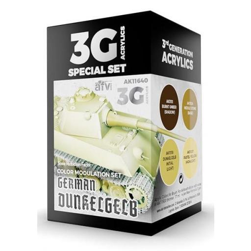 Set Colores 3G Modulación Amarillo Oscuro Alemán