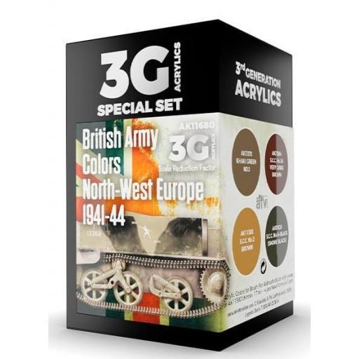 Set Colores 3G Ejército Británico Noroeste Europa 1941-44