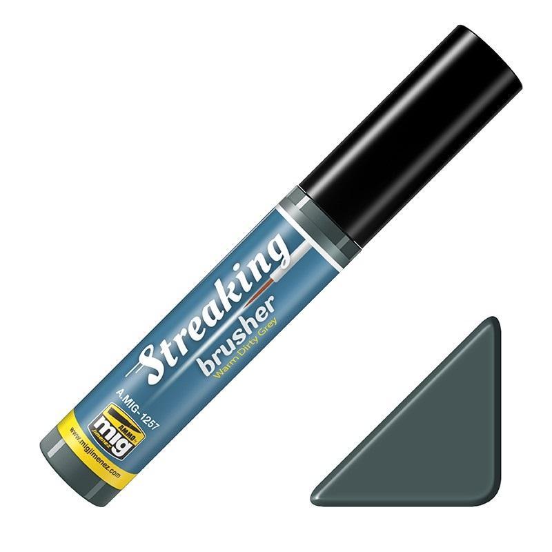 Streaking Brusher Warm Dirty grey