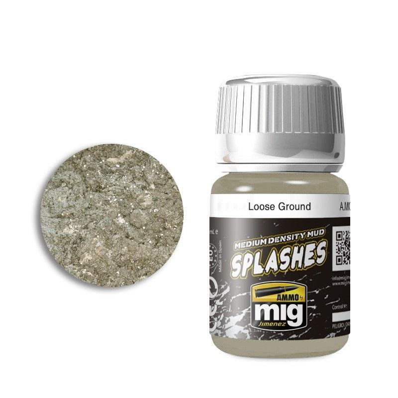 Loose Ground - Enamel Splashes & Medium Density Mud Texture