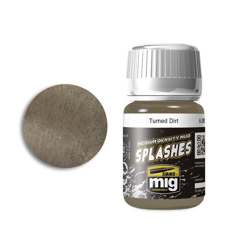 Turned Dirt - Enamel Splashes & Medium Density Mud Texture