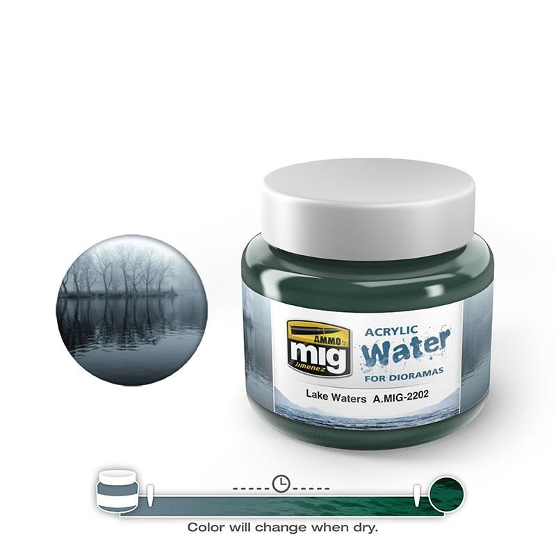 Lake Waters - Acrylic Water (250 Ml. Jars)