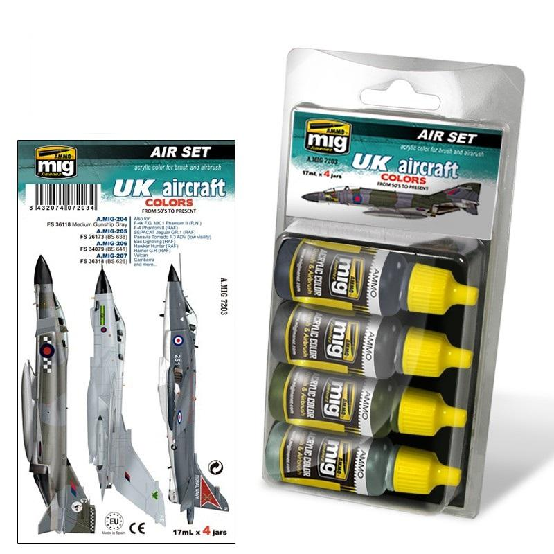 Acrylic Smart Set -   UK Aircraft From 50'S To Present