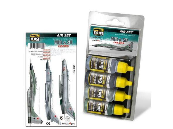 Acrylic Smart Set -   Mig & Su Fighters Greys [0]