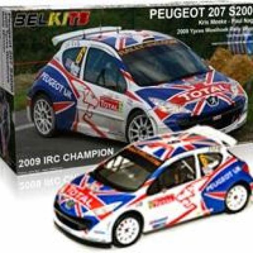 1/24 Peugeot 207 S2000. Ypres 2009 Rally Winner