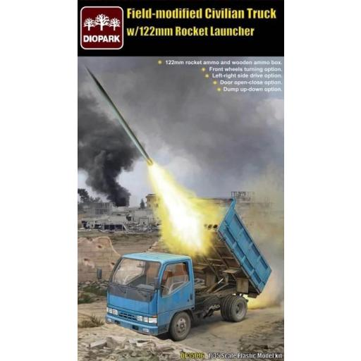 1/35 Field-Modified Civilian Truck W/122 mm Rocket Launcher