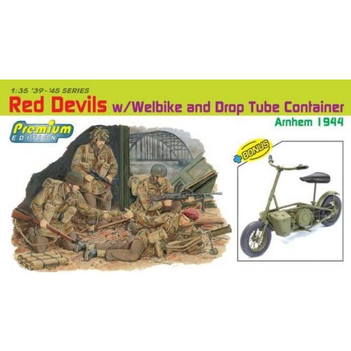 1/35 Red Devils w/Welbike and Drop Tube Container