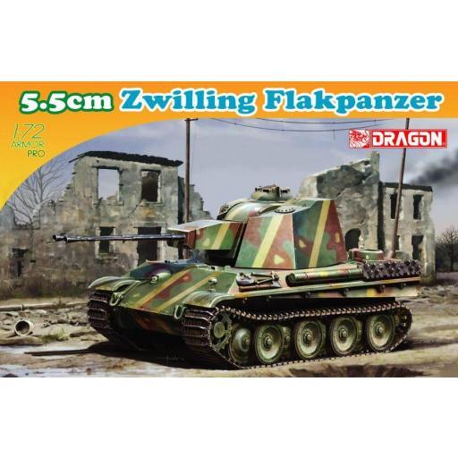 1/72 Tanque prototipo Zwilling Flakpanzer 5.5 cm.
