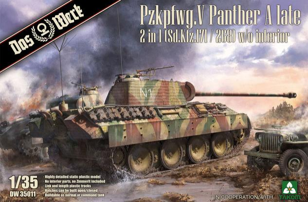 1/35 Pzkpfwg. V Panther Ausf.A Late 2 in 1