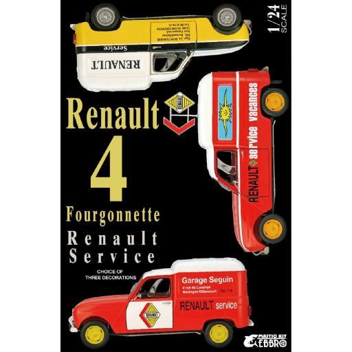 1/24 Renault 4 Fourgonette Service Car