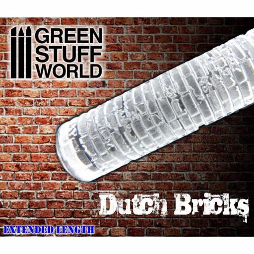 """Rodillo Texturizado """"Rolling Pin Small Dutch Bricks"""""""