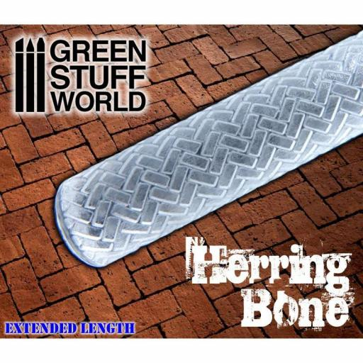 "Rodillo texturizado ""Rolling Pin Herringbone"""