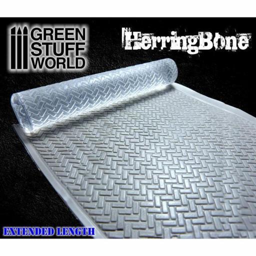"Rodillo texturizado ""Rolling Pin Herringbone"" [1]"
