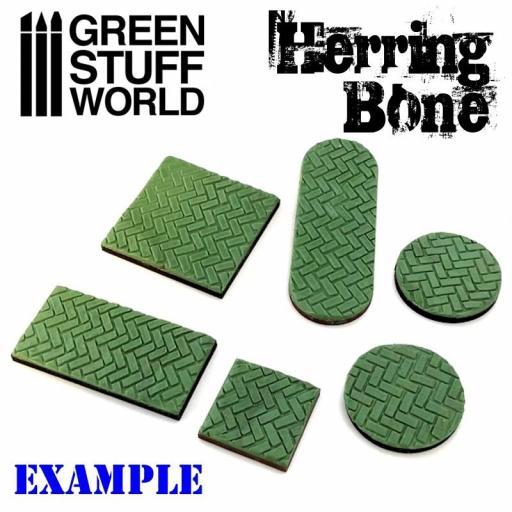 "Rodillo texturizado ""Rolling Pin Herringbone"" [2]"