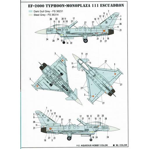 1:72 EF-2000A Eurofigther Typhoon ESP Calcas Españolas [2]
