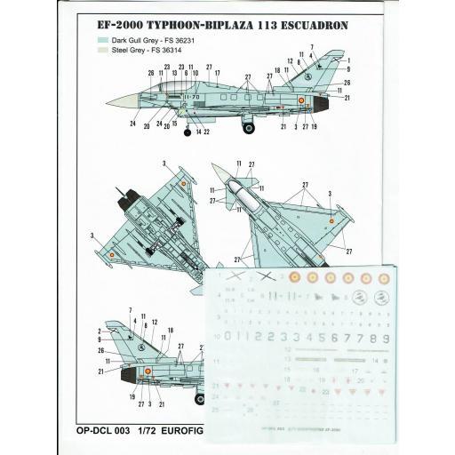 1:72 EF-2000A Eurofigther Typhoon ESP Calcas Españolas [1]