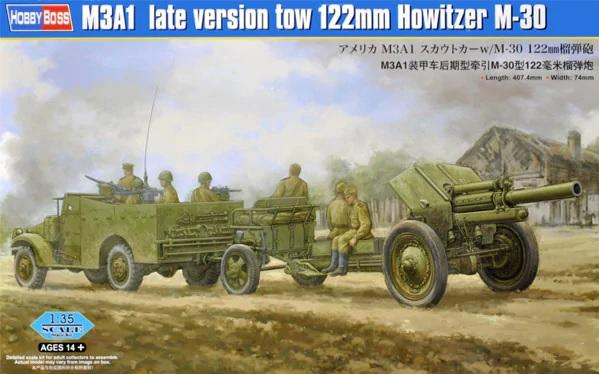 1/35 M3A1 Late Version Tow 122 mm Howitzer M-30
