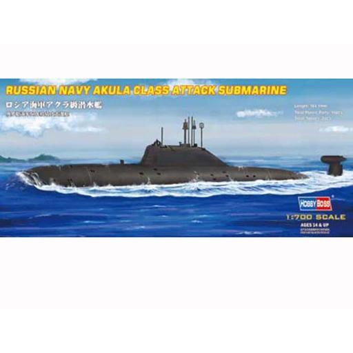1/700 Russian Navy Akula Class Attack Submarine