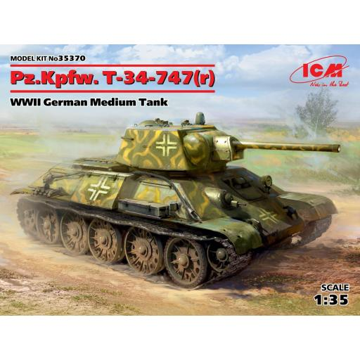 1/35 Pz.Kpfw. T-34-747(r)  WWII German Medium Tank