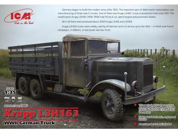 1/35 WWII German Truck Krupp L3H163